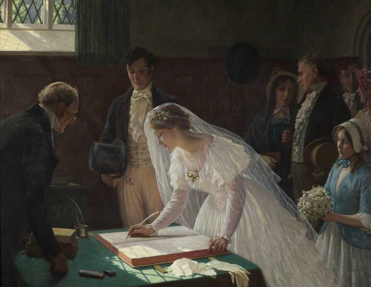 file edmund blair leighton the wedding register jpg wikimedia