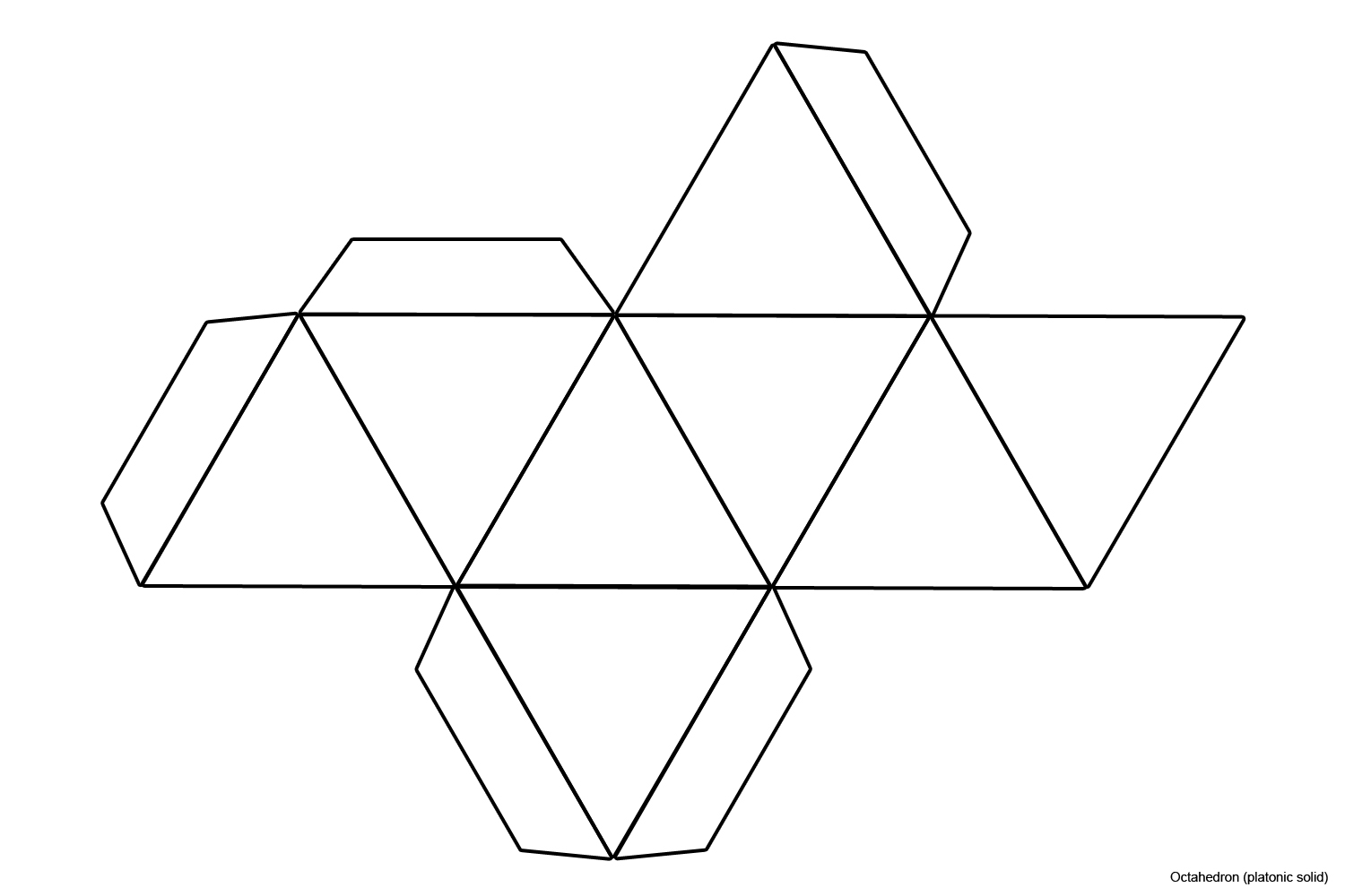File Foldable Octahedron Blank Jpg Wikimedia Commons