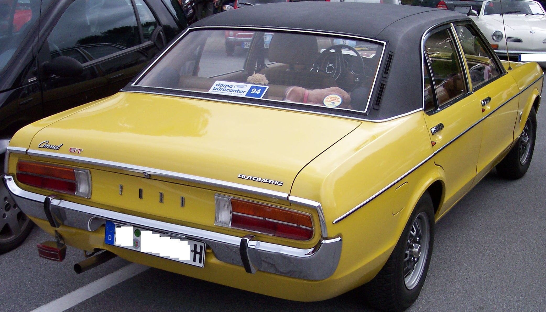 file ford consul gt 2 3 v6 yellow wikimedia commons. Black Bedroom Furniture Sets. Home Design Ideas