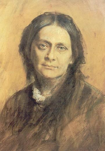 Franz von Lenbach - Clara Schumann (Pastell 1878)