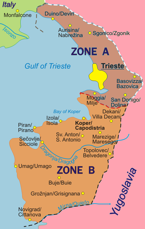 FileFree Territory Of Trieste Mappng Wikimedia Commons - Trieste map