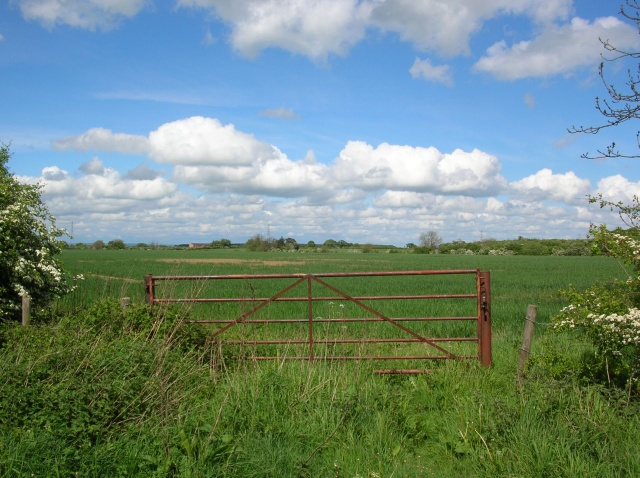 File:Gate onto farmland - geograph.org.uk - 431700.jpg