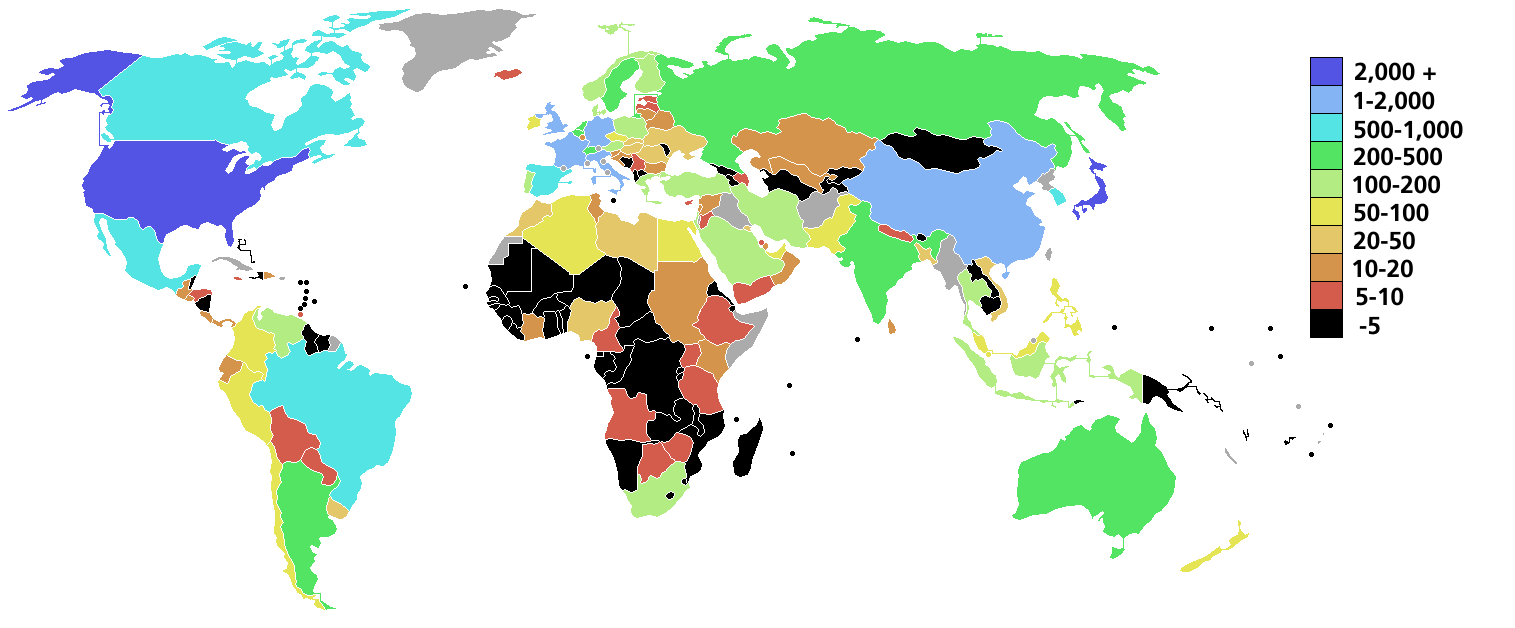 Https Commons Wikimedia Org Wiki File Gdp Nominal 2000 World Map Png