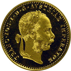 Ducat gold or silver coin used as a trade coin in Europe