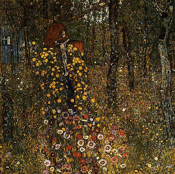 Gustav Klimt - Bauerngarten mit Kruzifix 1911-1912 [Public domain], via Wikimedia Commons