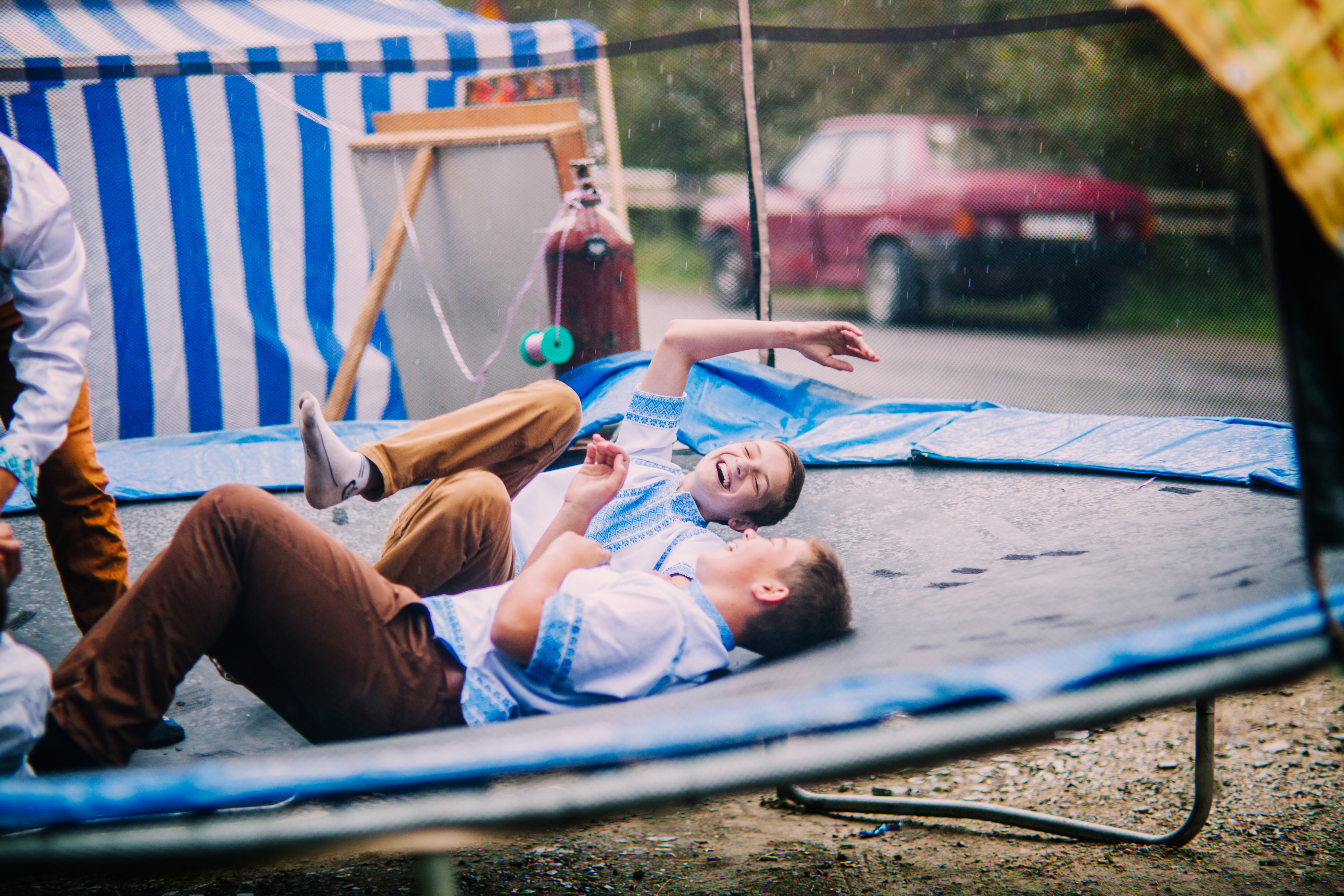 Happiness on a trampoline.jpg English: Hutsul holiday in honor of the virgin Mary in the village of Krivorivnya, Western Ukraine. Date 21 September