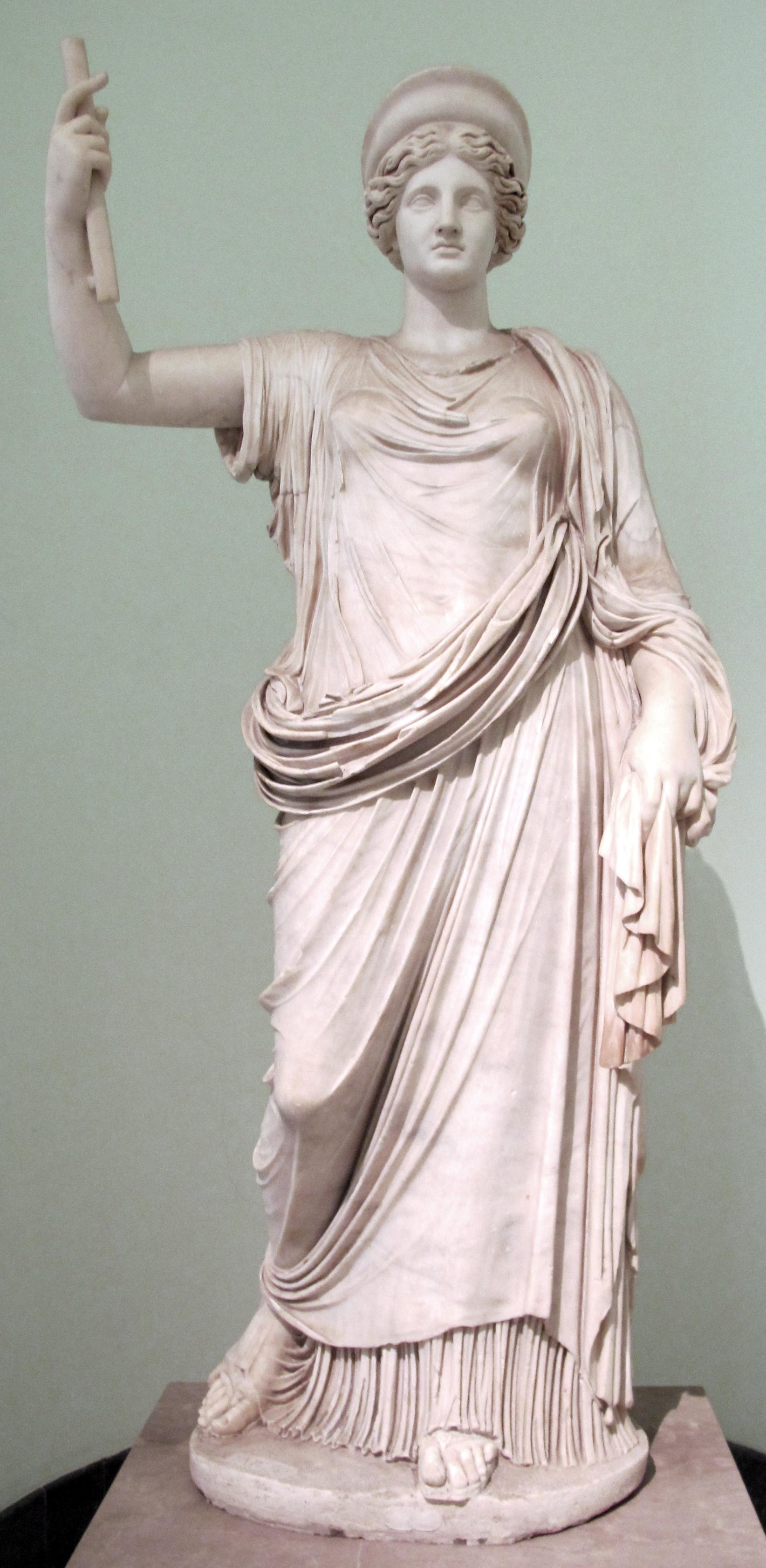 Statues Of Gods File Hera Di Efeso Vienna Copia Romana Del 100 150 Ca Da