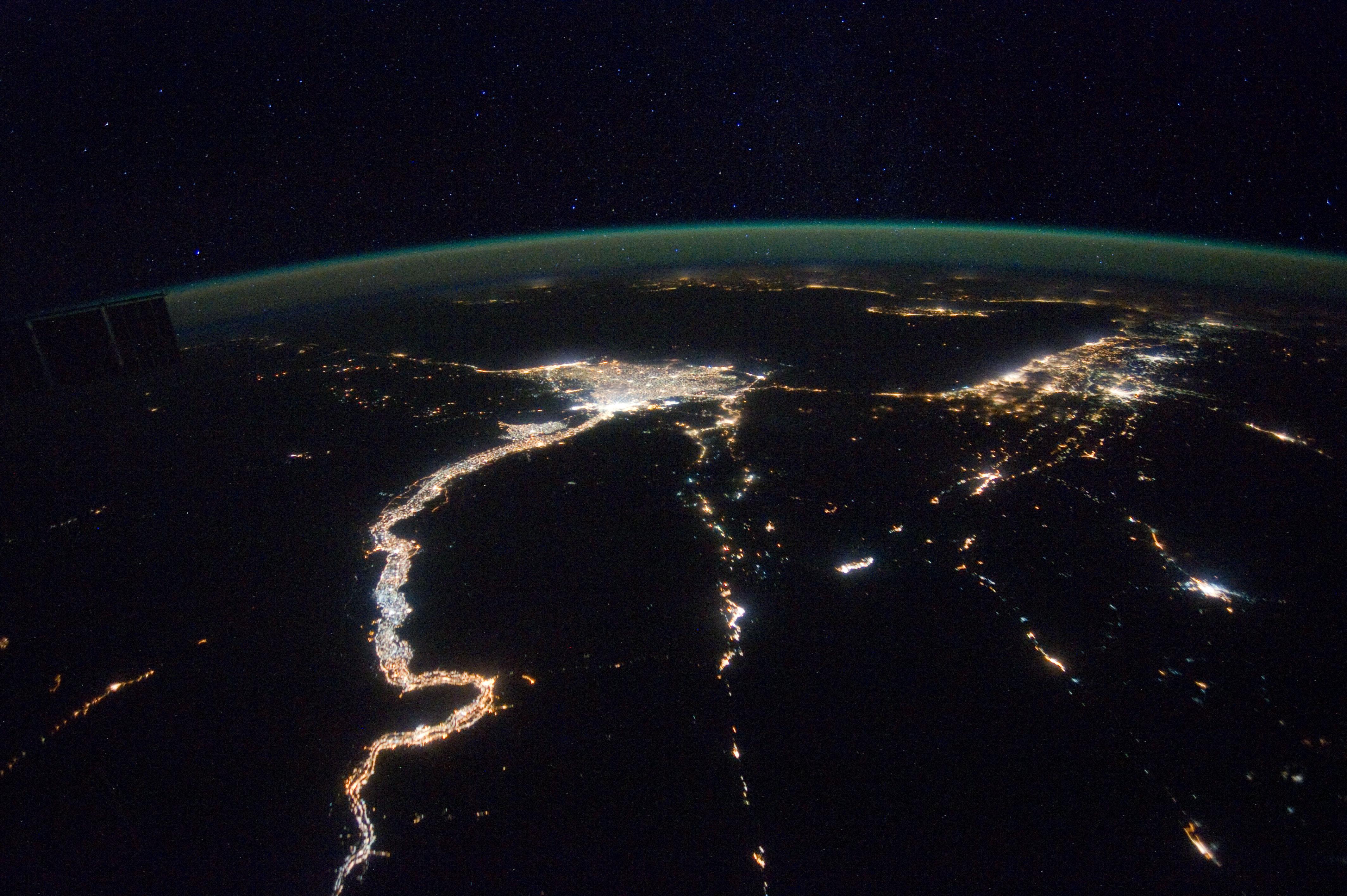 File:ISS-30 Mediterranean Sea, Nile River Delta and ...