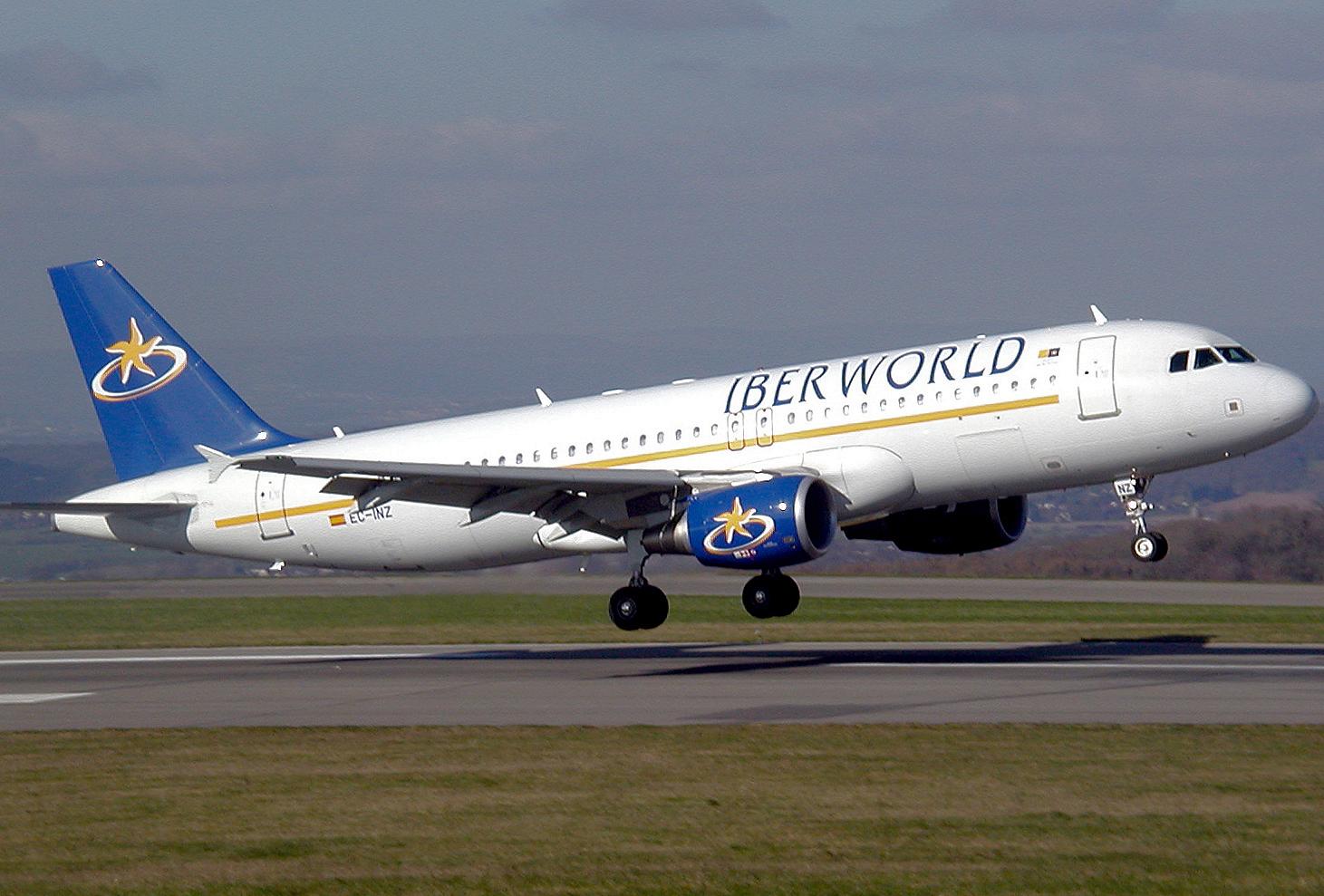 航空Iberverld航空(Iberworld航空)。 公式sayt.2