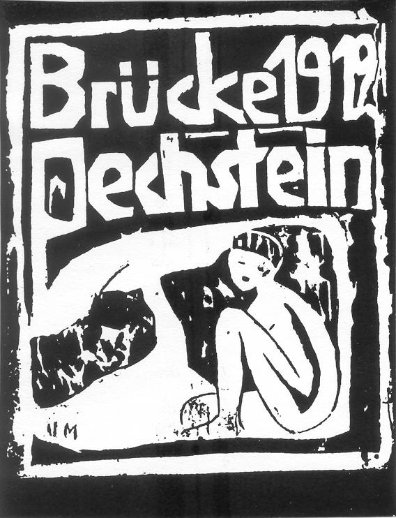 Die Brucke poster by Otto Muller