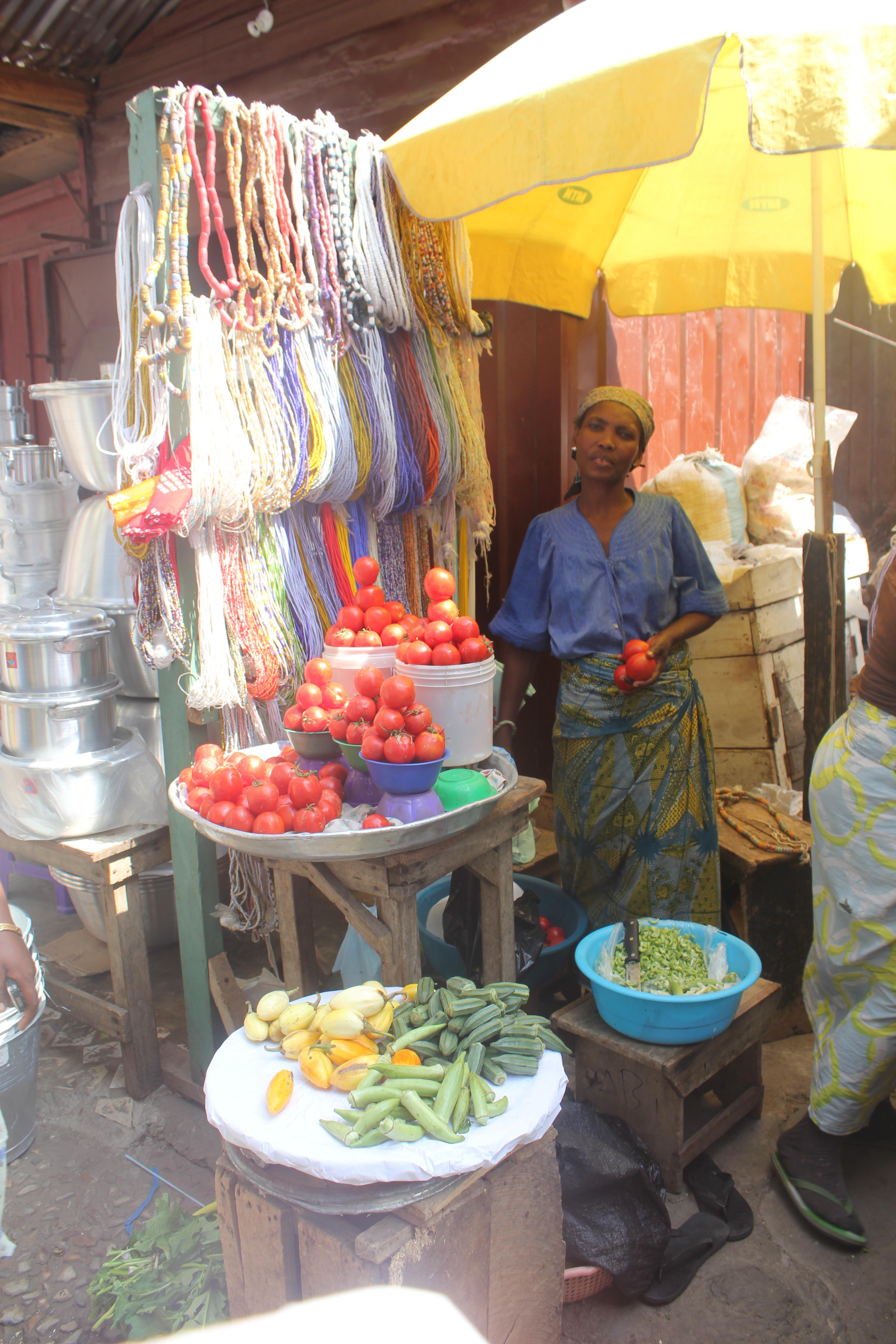 File:Jewelry and Fruit, Makola Market, Accra, Ghana JPG
