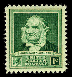 English: 1940 John James Audubon stamp