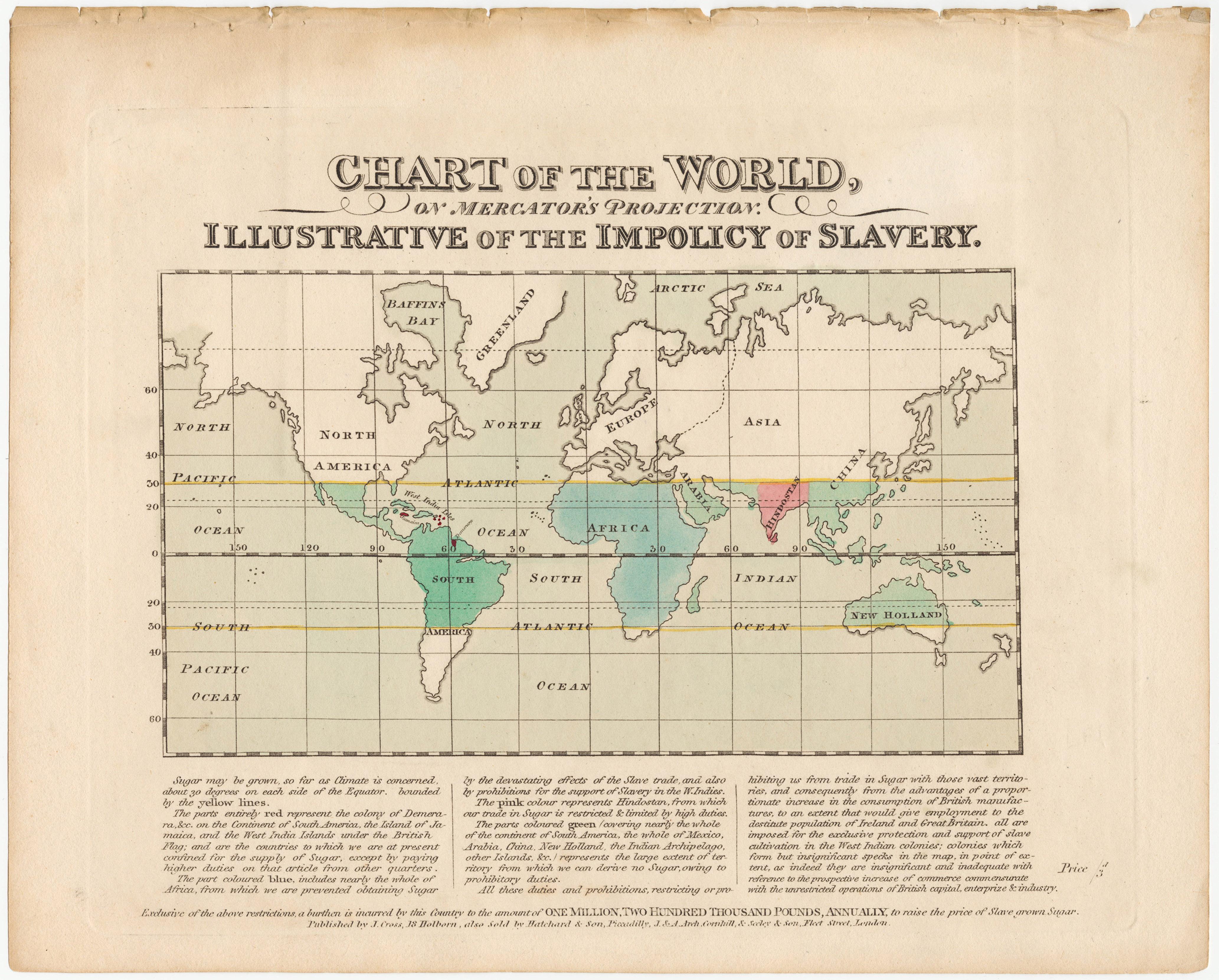 Manufacturing Organizational Chart: Joseph Cross The Impolicy of Slavery 1823 Cornell CUL PJM ,Chart