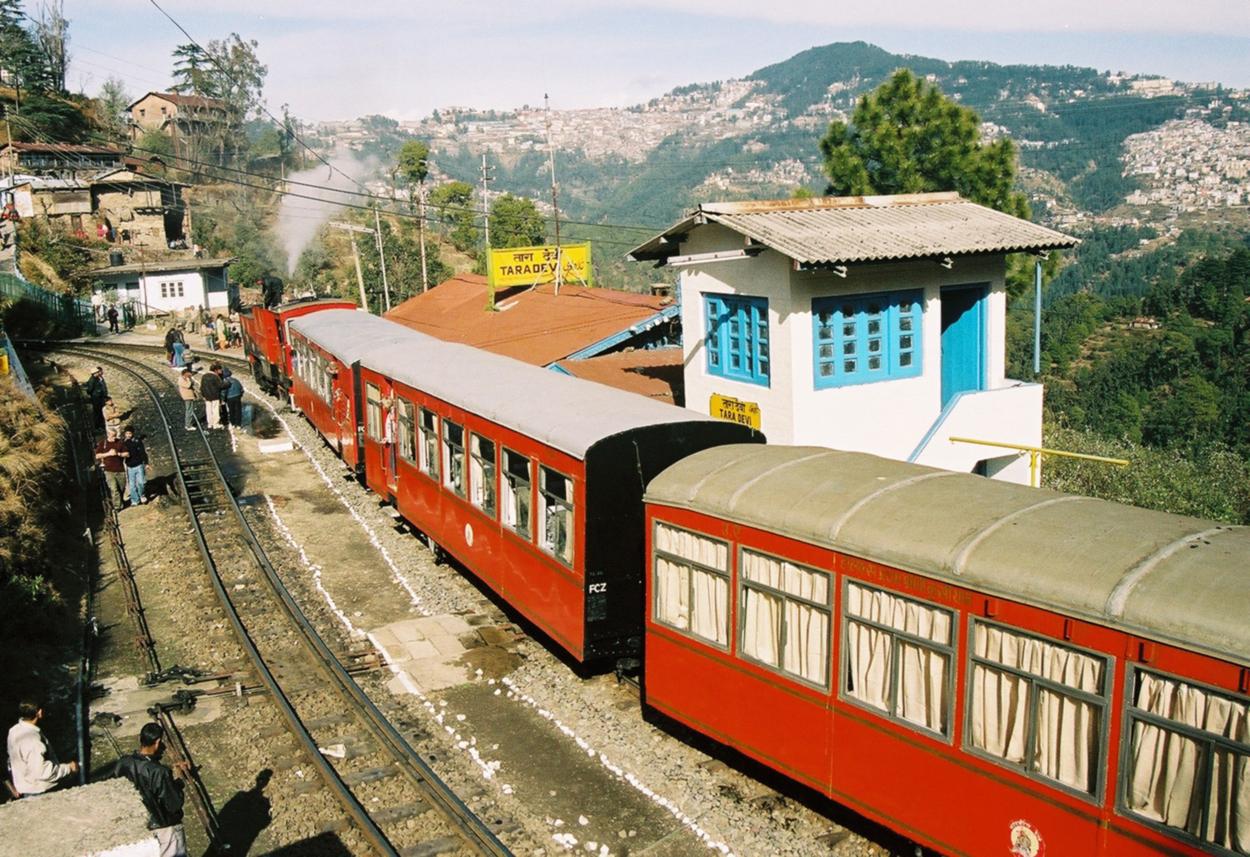 Shivalik Deluxe Express in Taradevi Station.