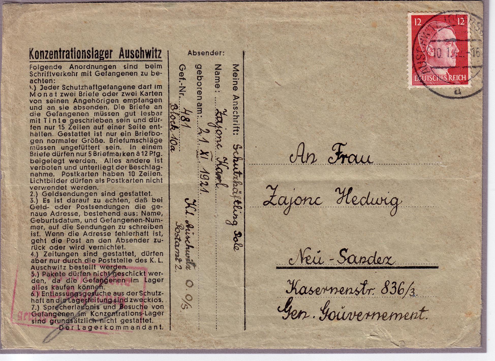 Gefangenenpost Konzentrationslager Wikipedia
