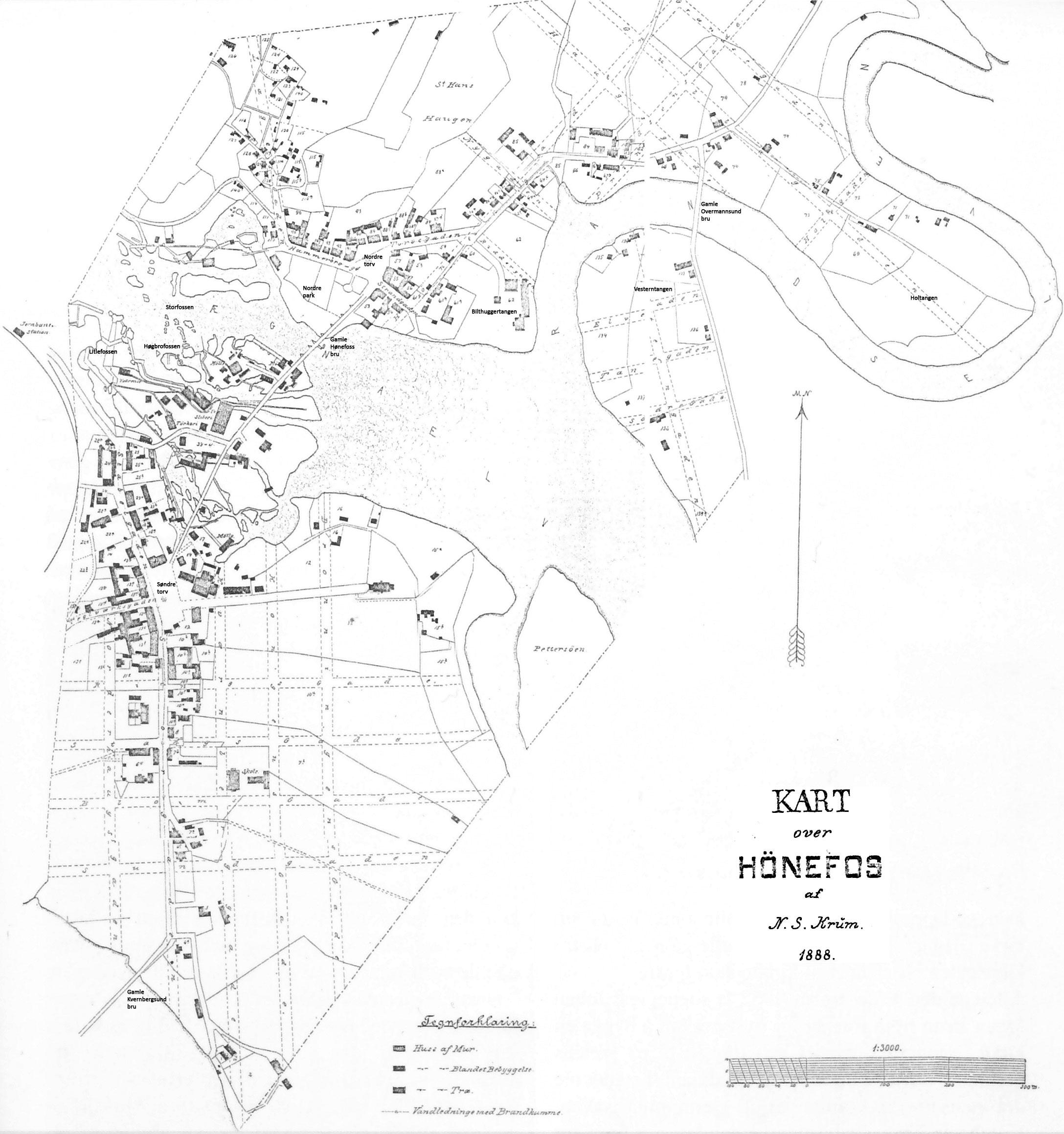 File Kart Over Honefoss 1888 Jpg Wikimedia Commons