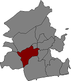 Location of Albinyana in Baix Penedès