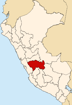 Location of the Junín region in Peru