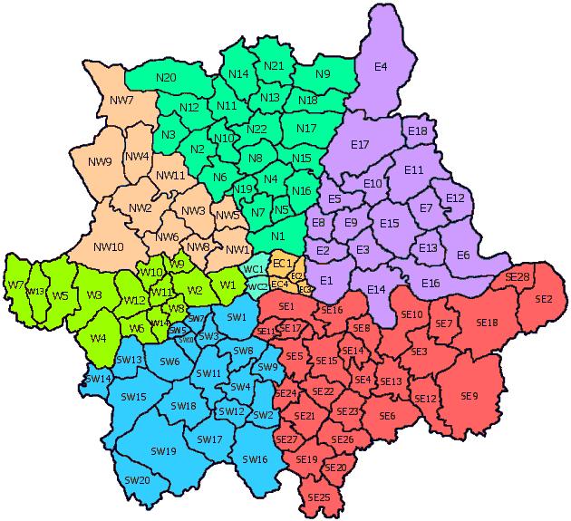 Distrik Pos London Wikipedia Bahasa Indonesia