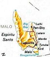 Map Espiritu santo