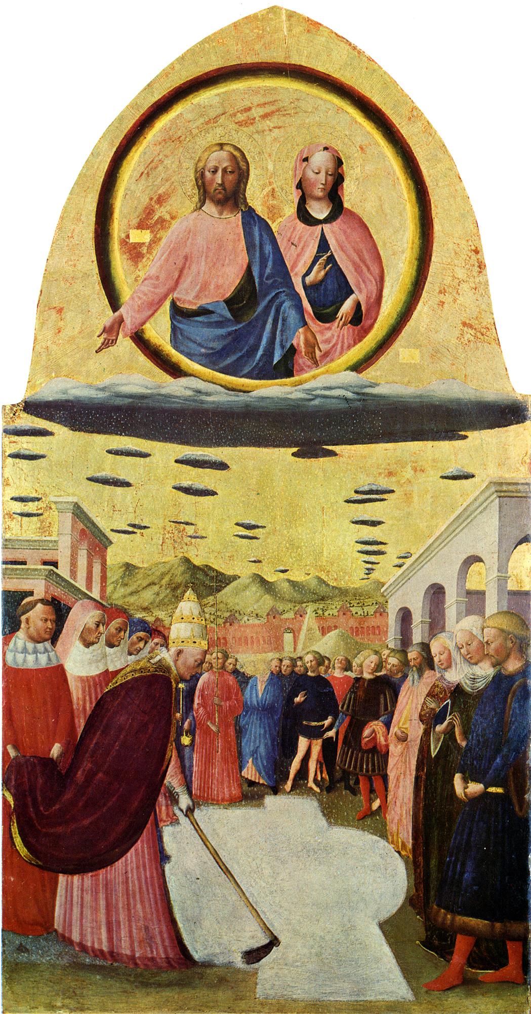 Masolino Da Panicale: Snømiraklet (ca 1400), Santa Maria Maggiore