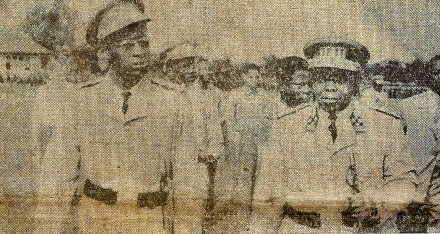 Kasa-Vubu with Colonel Joseph-Desire Mobutu in 1961 Mobutu and Kasa-Vubu in 1961.jpg