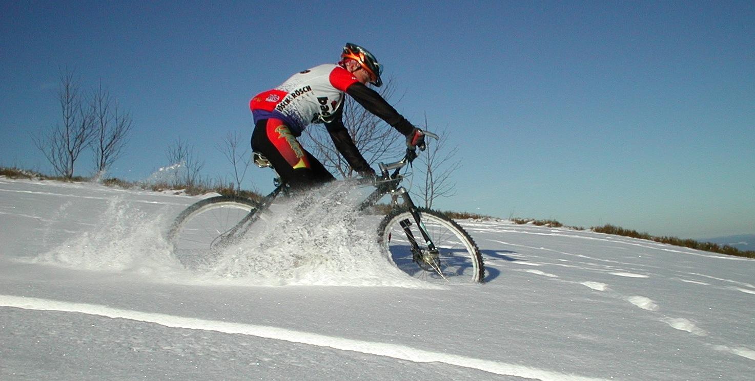 mountainbike snow winter extreme - photo #37