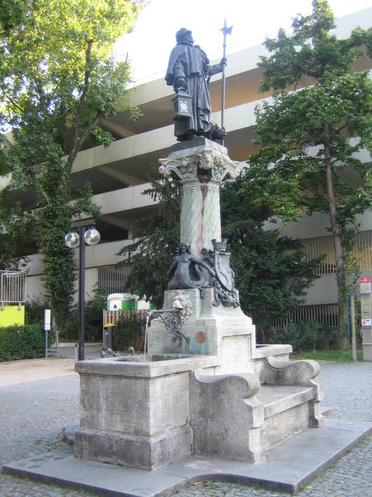 Poetisch Brunnen.Nachtwächterbrunnen Stuttgart Wikipedia