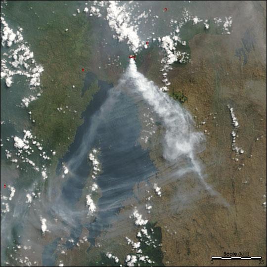 Извержение вулкана Ньирагонго