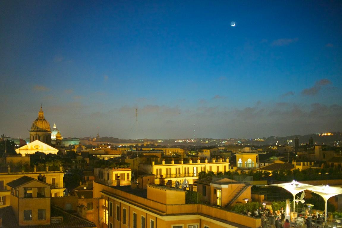 File:Panorama di Roma da Trinità dei Monti di notte.jpg ...