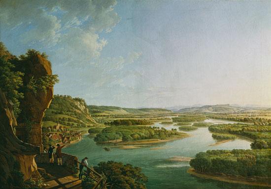 Der Rhein vor seiner Begradigung