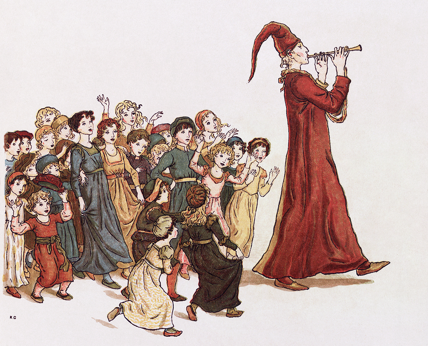 Pied Piper by Kate Greenaway/ Wikipedia Commons