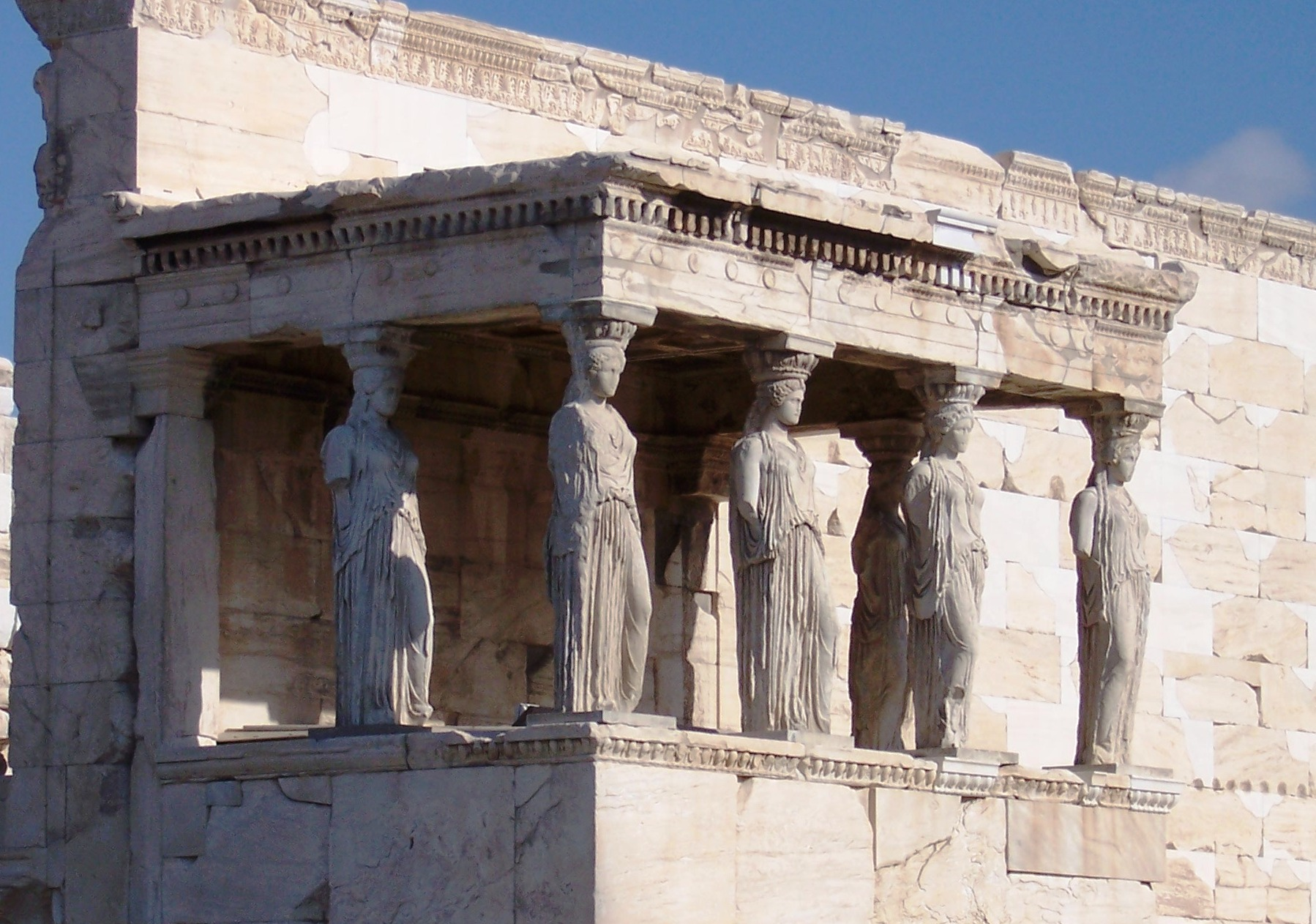Caryatid From The South Porch Of The Erechtheion Www