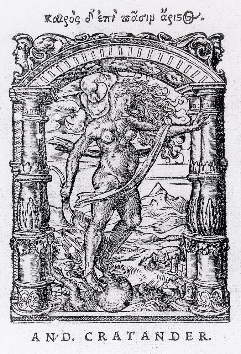 ''Printer's Device for Andreas Cratander'', designed by [[Hans Holbein the Younger
