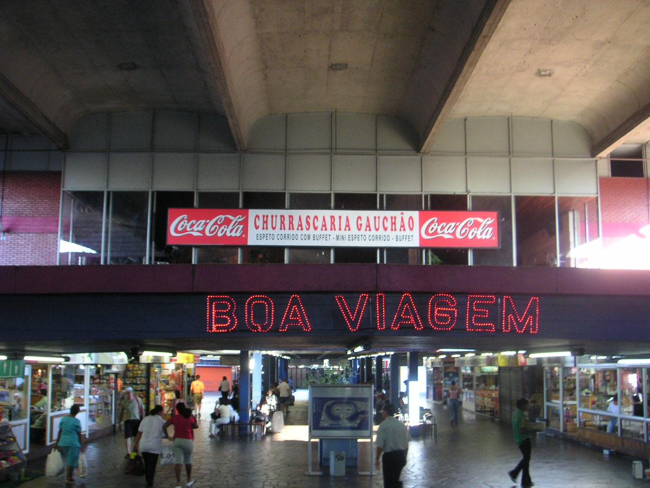 Bus station in Porto Alegre.