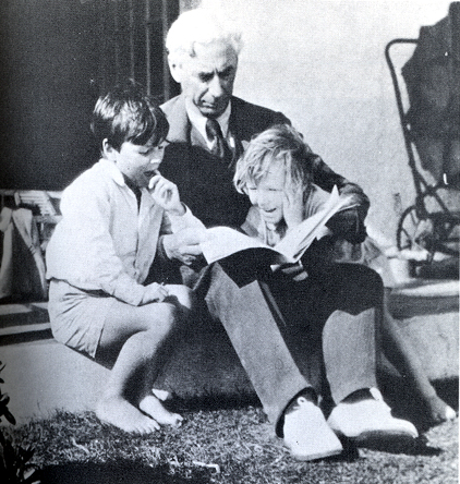 Russell with his children, John and Kate