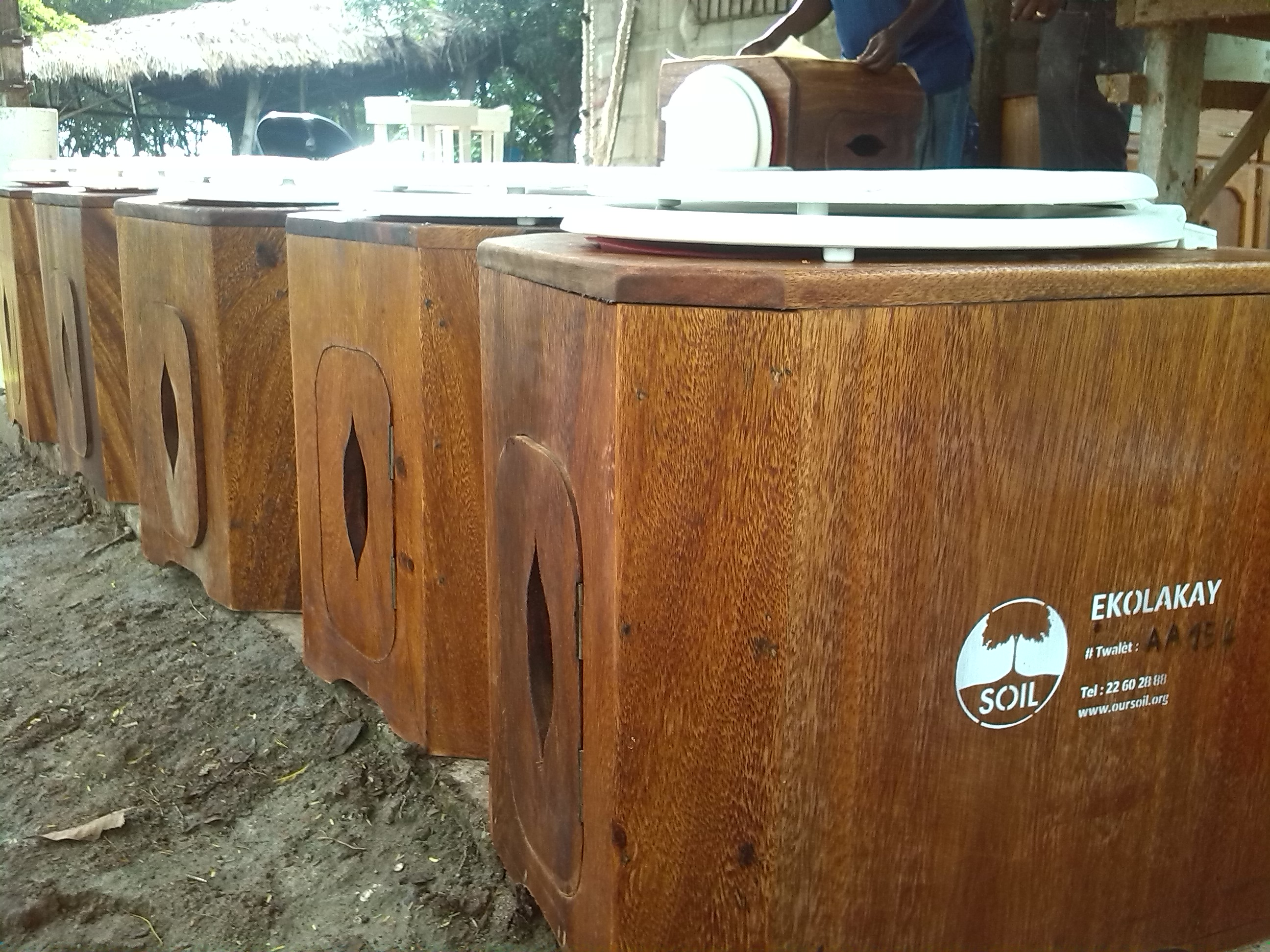 File:SOIL EkoLakay household EcoSan toilets, ready for installation ...