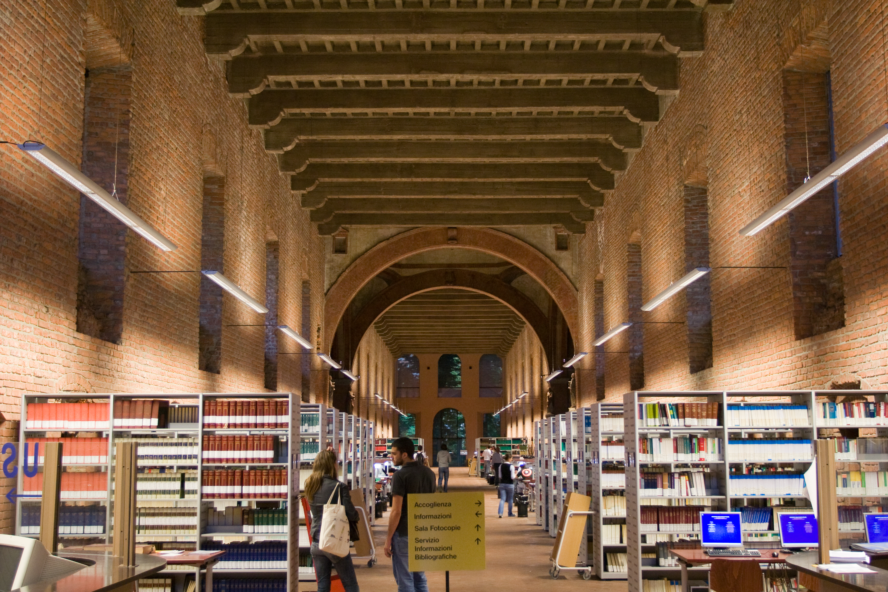 University of Milan central library of Law and Humanities