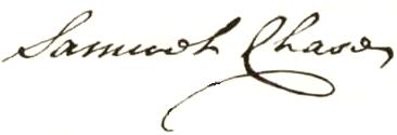 Samuel Chase Signature