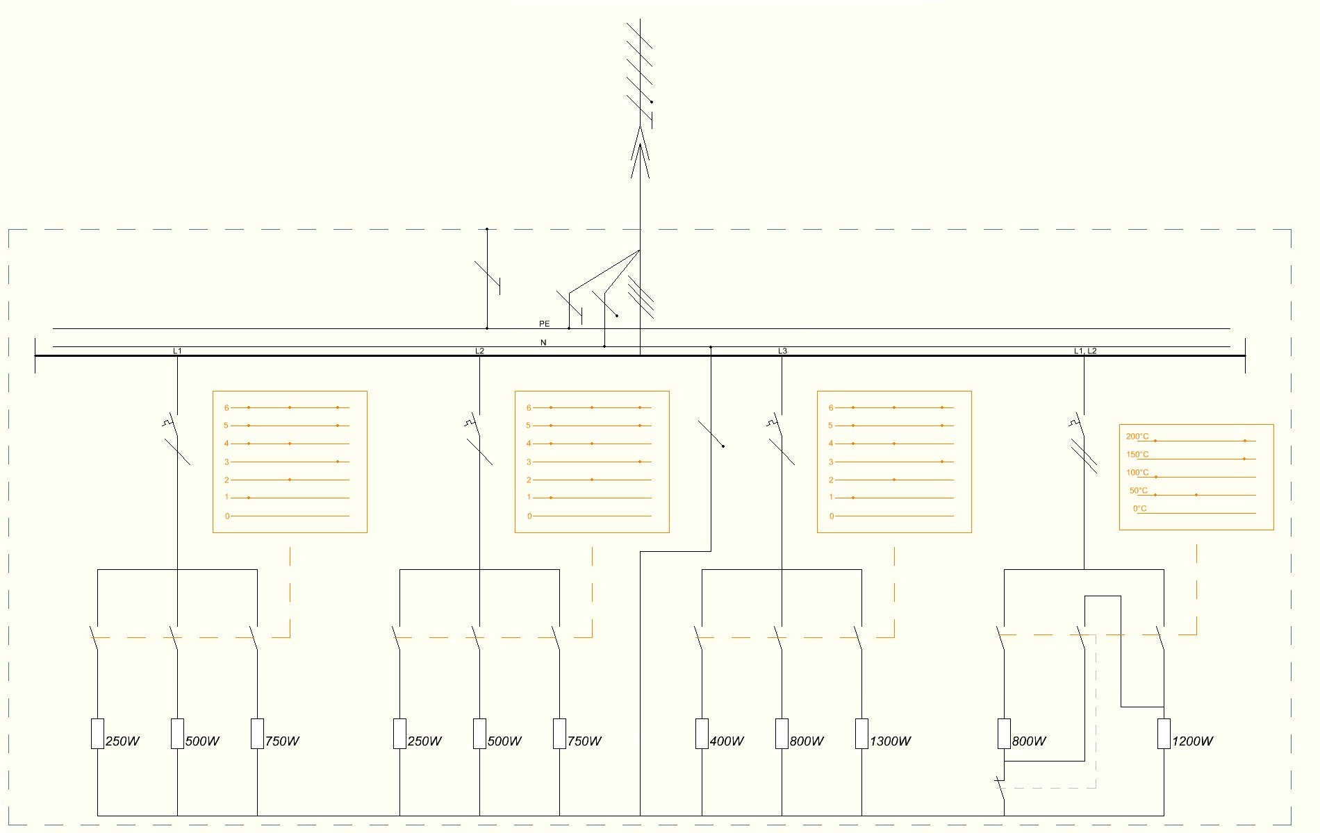 file schematic wiring diagram of electrical stove jpg wikimedia rh commons wikimedia org GE Range Wiring Schematic Range Wiring Diagram