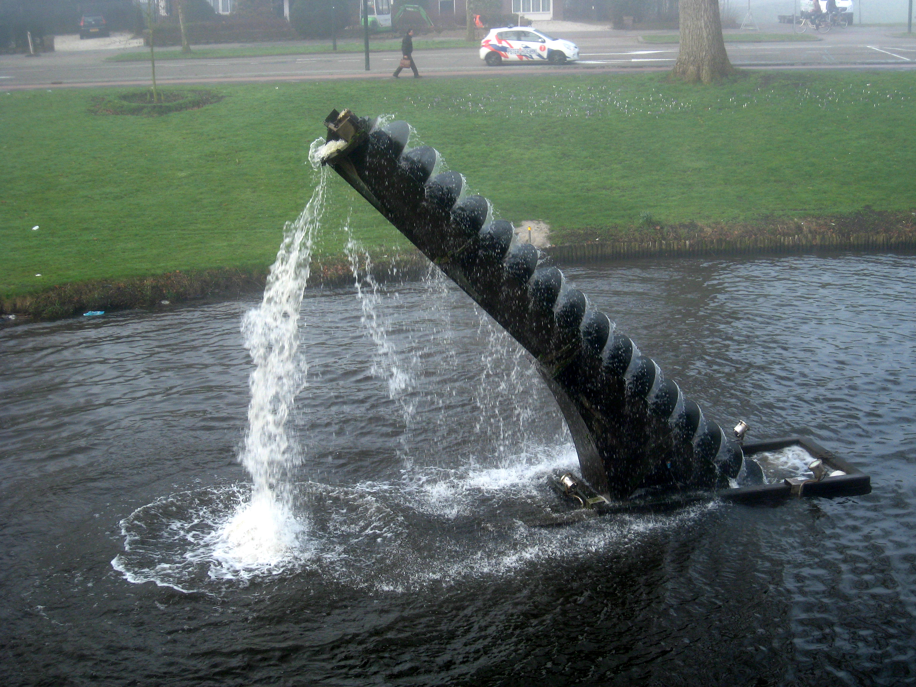 Archimedes Screw Sculpture Transporting Water Scienceimages