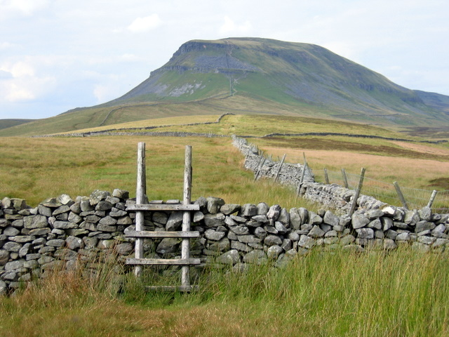 Stiles, walls, and Pen y Ghent - geograph.org.uk - 1402318