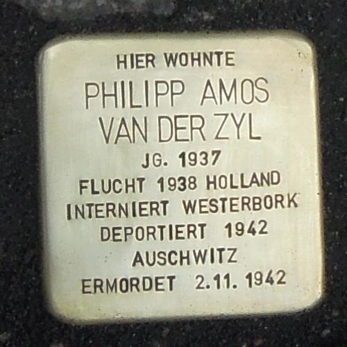 Stolperstein für Philipp Amos van der Zyl