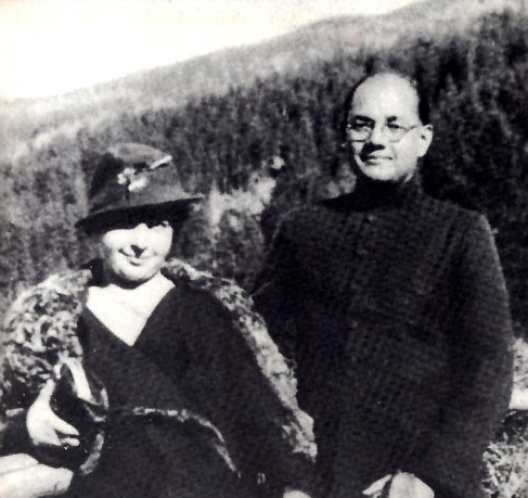 चित्र:Subhas Bose with his wife.png