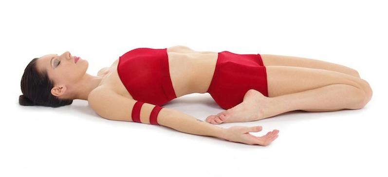 Description supta virasana yoga asana nina mel