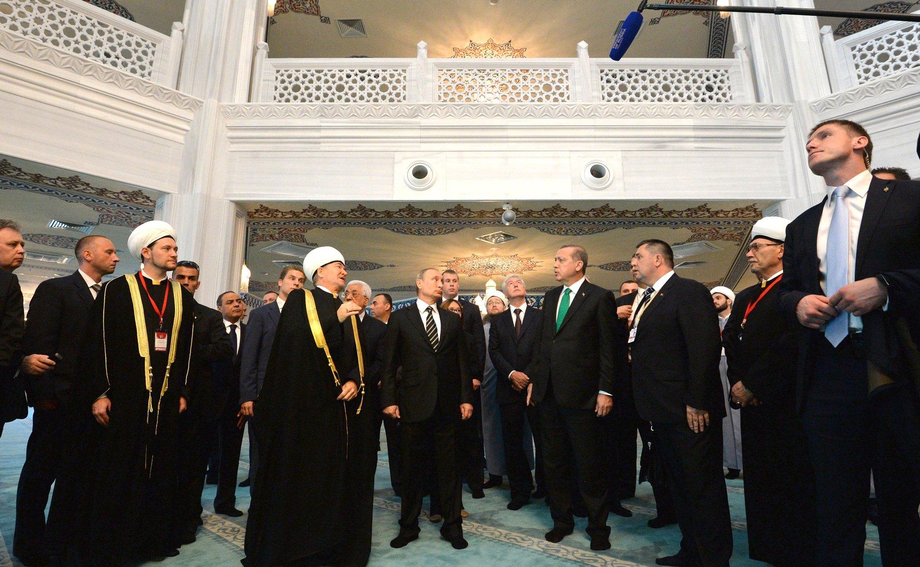 Vladimir Putin and Recep Tayyip Erdoan opened