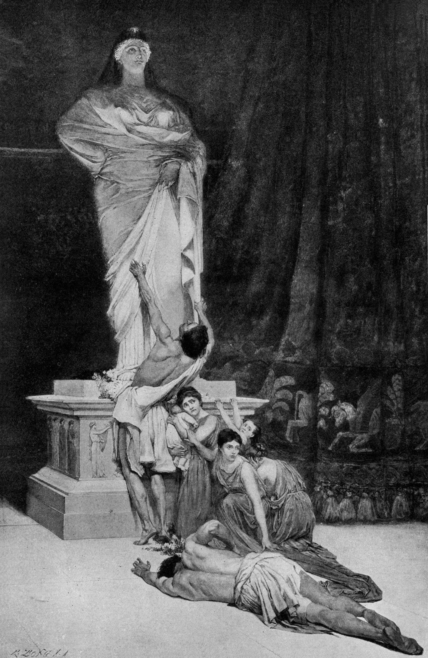 아스다롯 숭배하는 모습