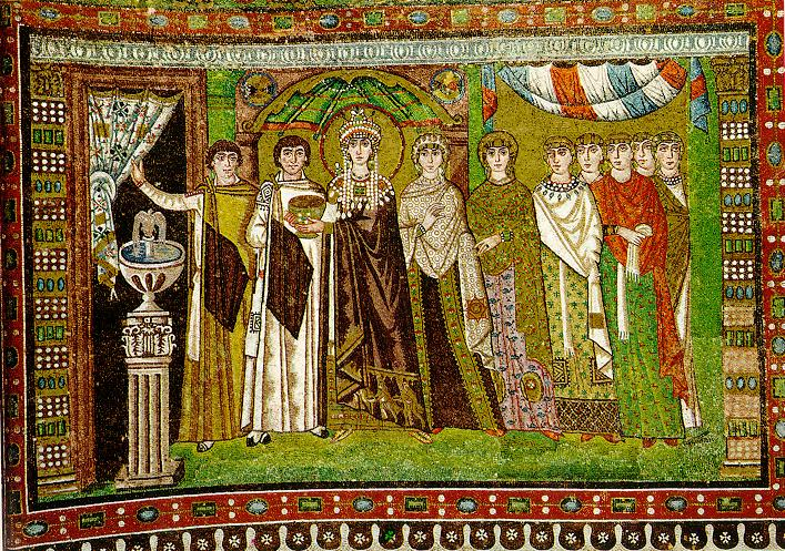 Image result for Justinian and Theodora ravenna