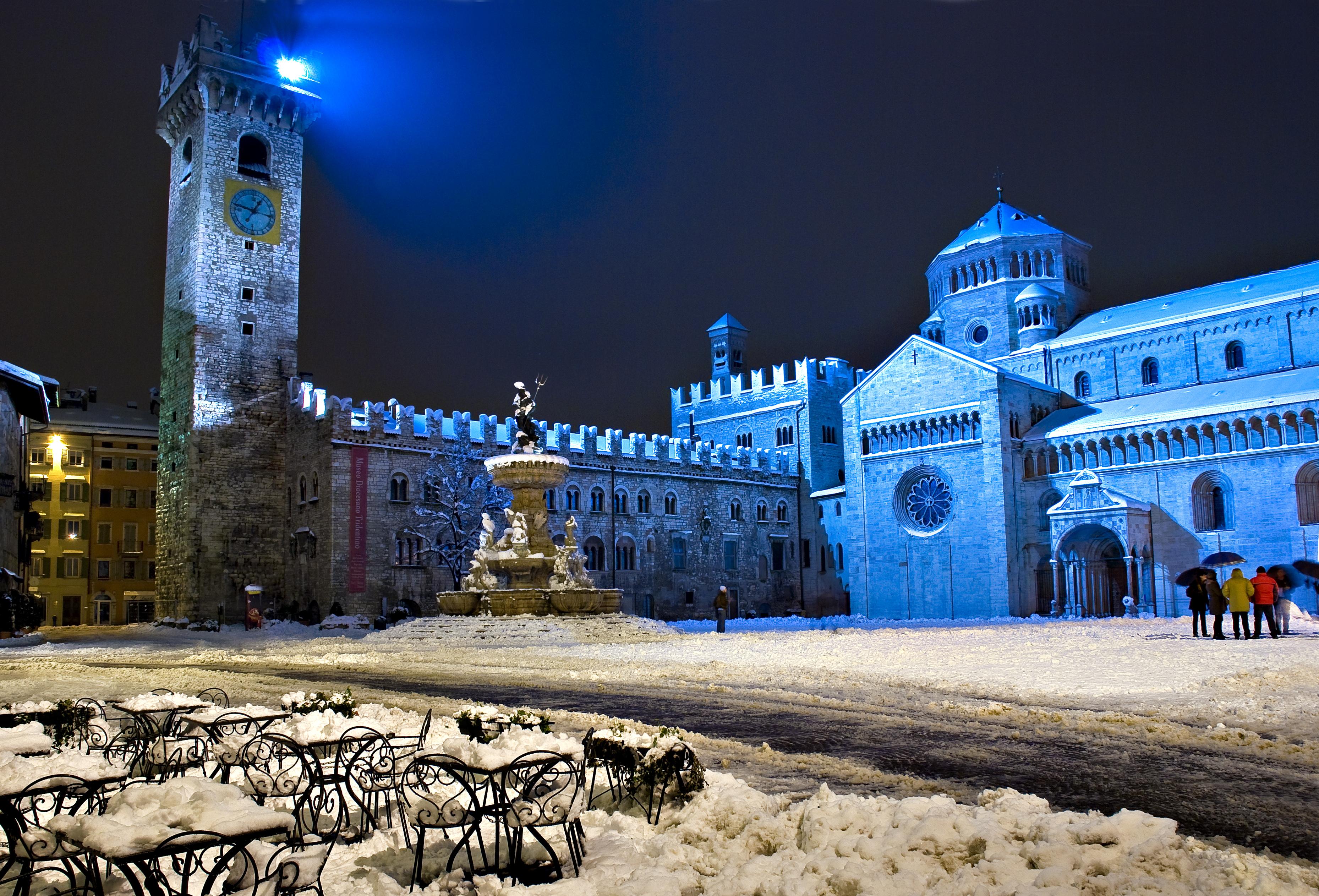 Meteo Trentino: prima neve dell'inverno a Trento [FOTO]