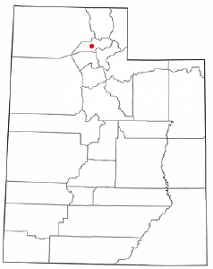 Location of Marriott-Slaterville, Utah